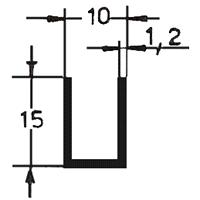 CANALINO mm15x15x1,5