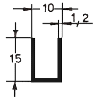 CANALINO mm35x10x2