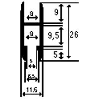 PROFILATO mm26x11,5