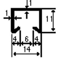 FERMAVETRO mm14x10,5x1,1