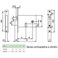 ELETTROSERRATURA SX mm133x78