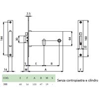 ELETTROSERRATURA mm133x64