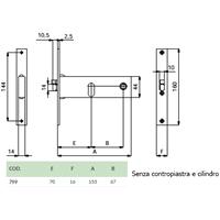 ELETTROSERRATURA DX mm153x44