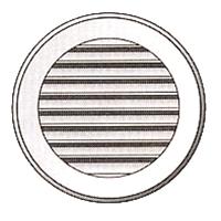 GRIGLIA Ømm120 PLA.BIANCA