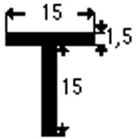 PROFILATO T mm15x15x1,5